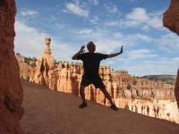 Qigong among the hoodoos, Bryce Canyon NP, 2011